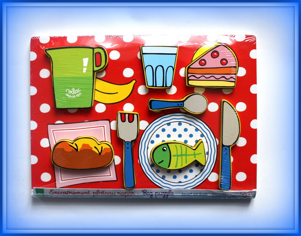 PLAC FRANCUSKI puzzle drewniane lunch