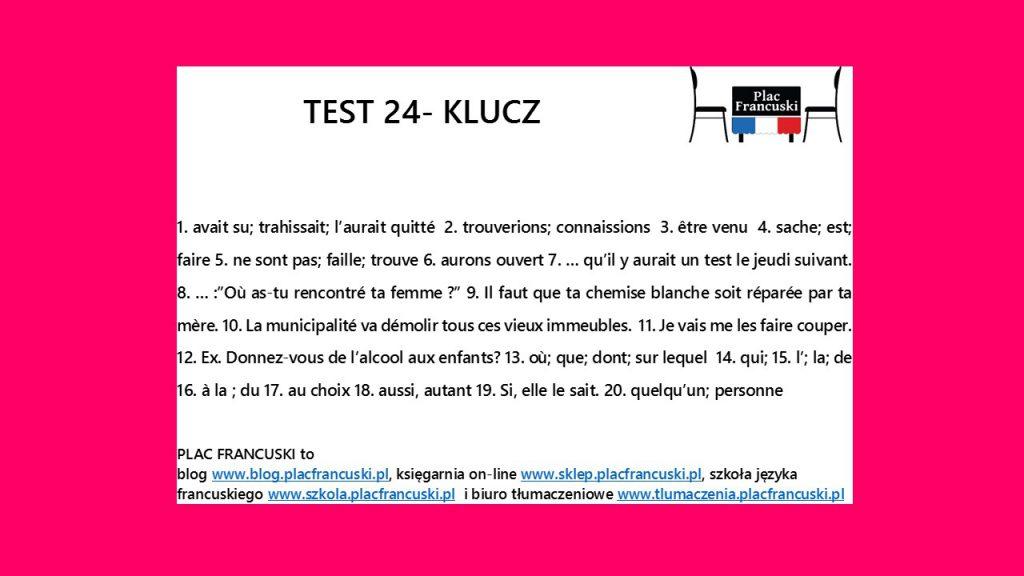 francuski test 24 klucz